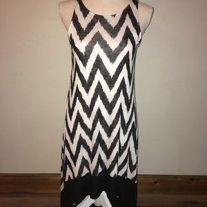 Ella Moss Black/ White Chevron Dress Size XS